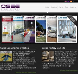 Ogee Design Magazine is a high-end design and architectural publication, dedicated to architecture and interior design, with a particular interest in classic Italian design.