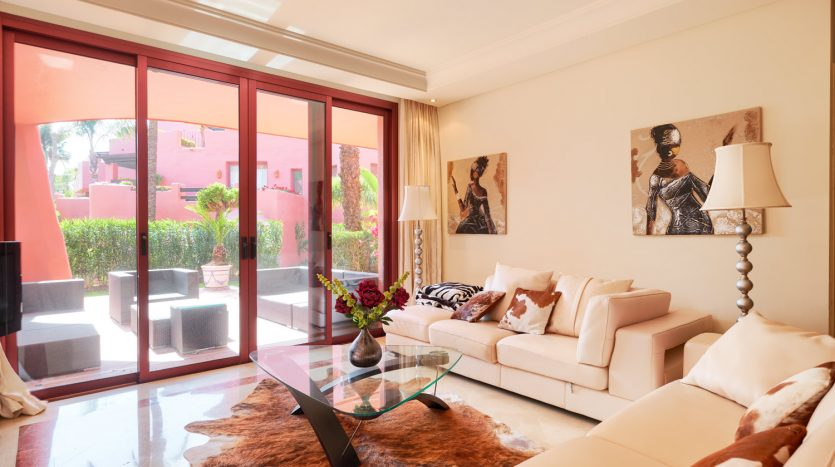 Beachside ground floor apartment - image 3-Living-room-Menara-835x467 on https://www.laconchaliving.com